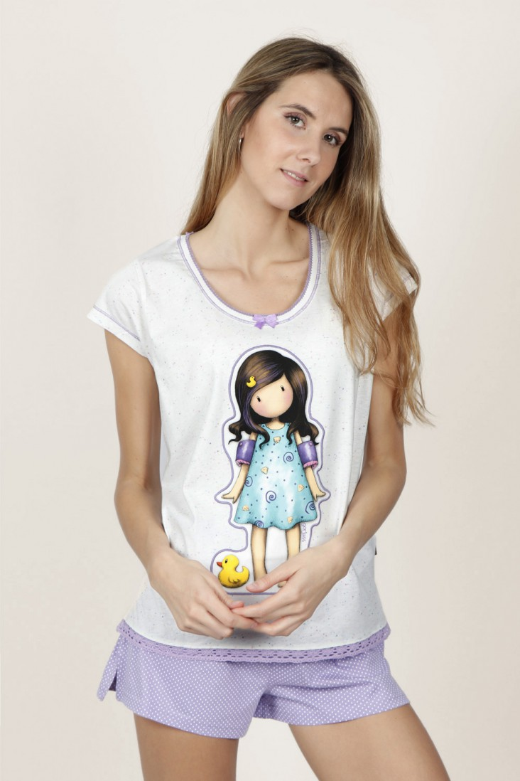 Pijama Corto Little Duck Santoro Gorjuss