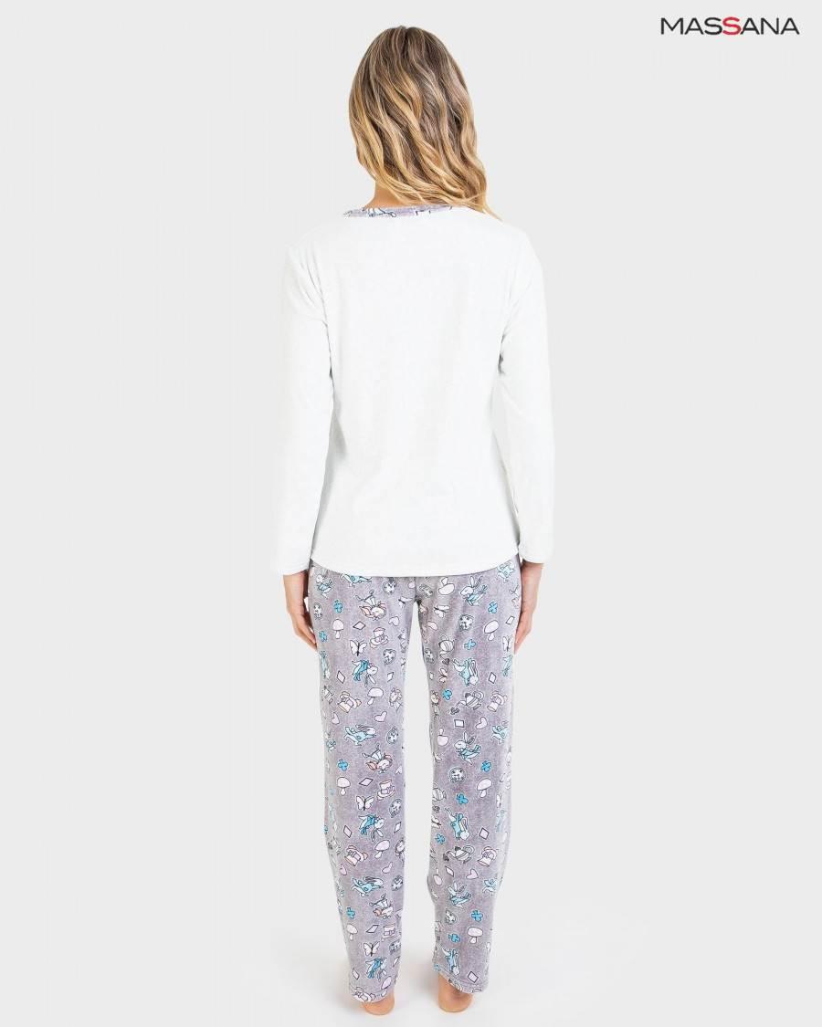 Pijama Largo Tundosado Conejito Massana