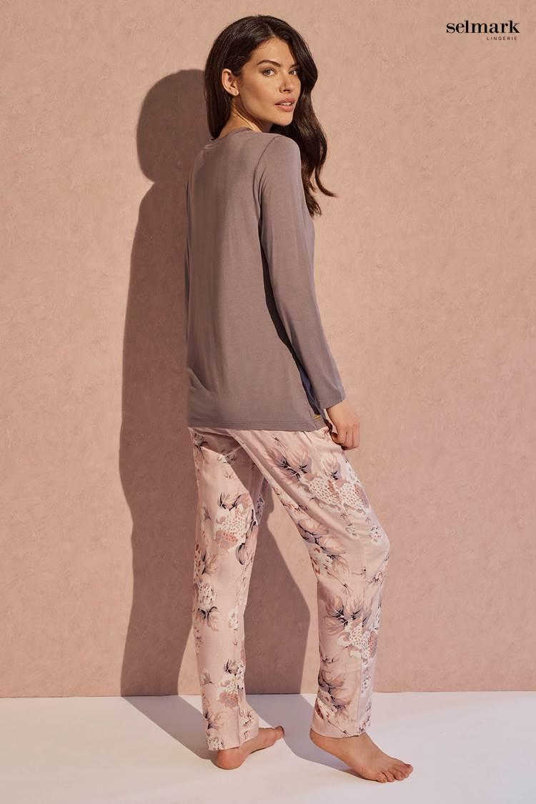 Pijama Largo Floral Selmark