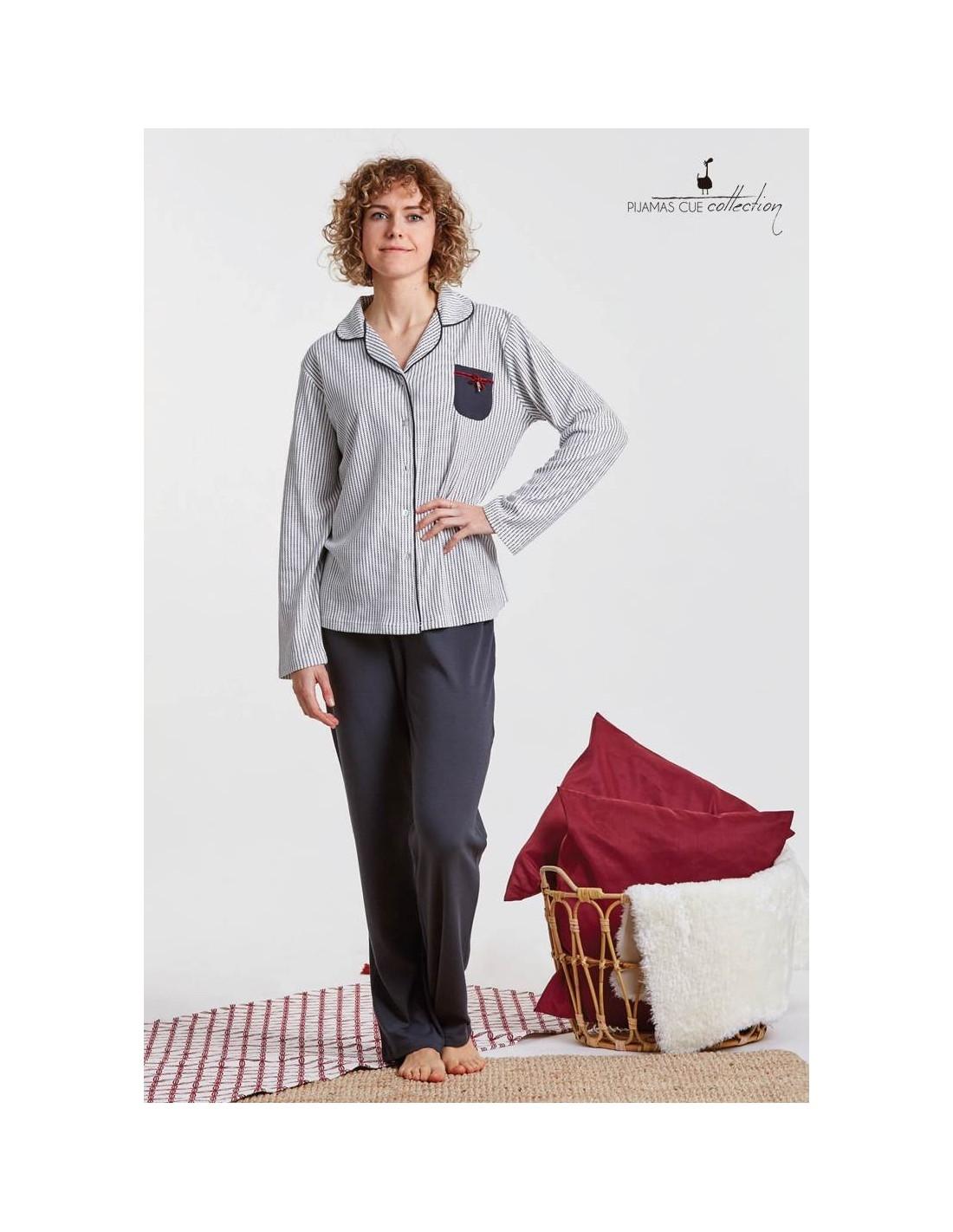 Pijama Abierto Largo Cue