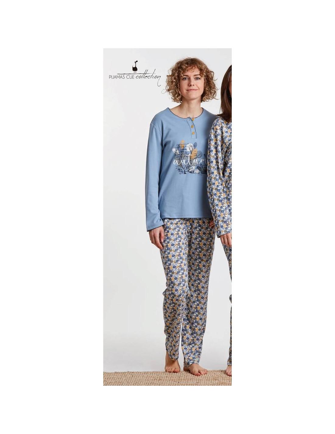 Pijama Estampado Largo Cue