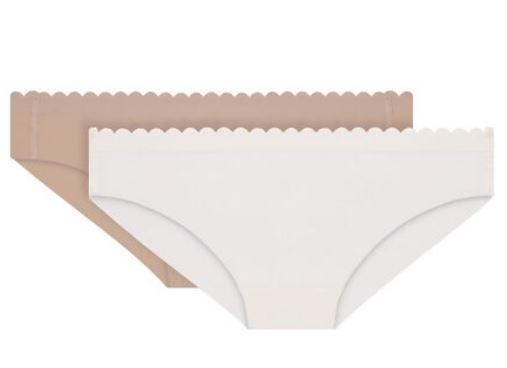 Pack 2 Braguitas Slip Microfibra Dim