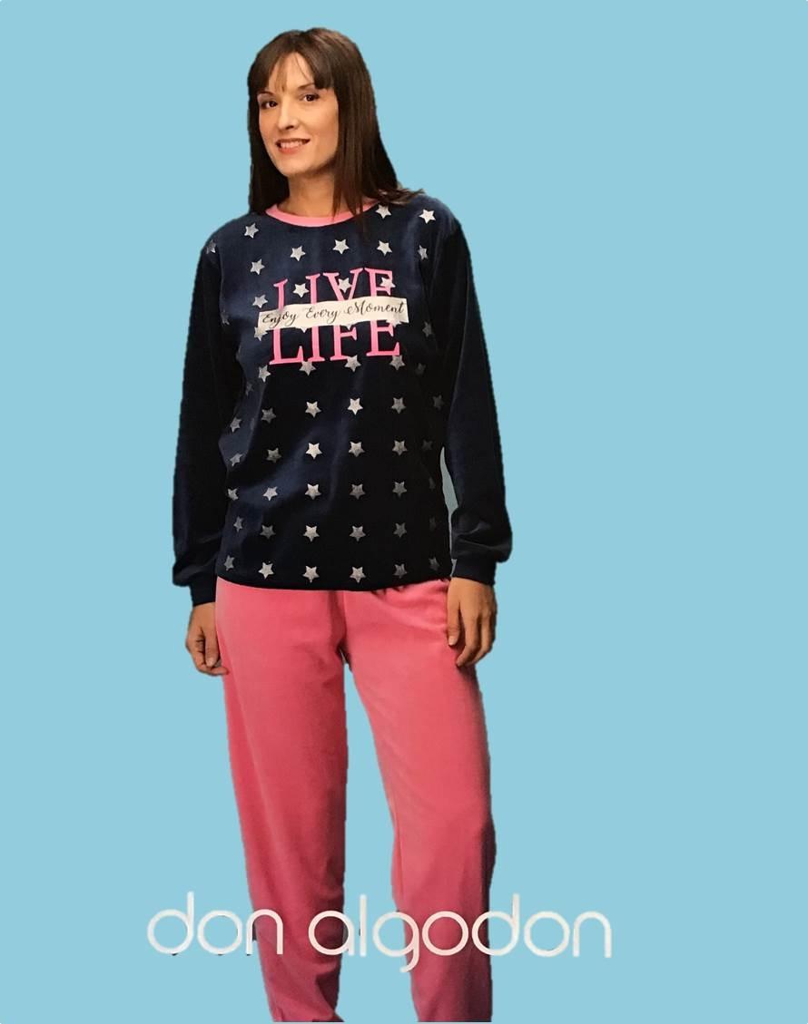 Pijama Largo Tundosado Don Algodón