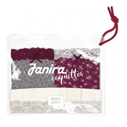 Pack 2 Mini Coquettes Cotton Janira