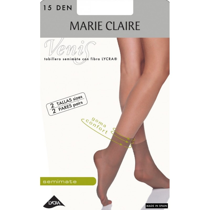 Pack 2 Tobillero Transparente 15 Den Marie Claire