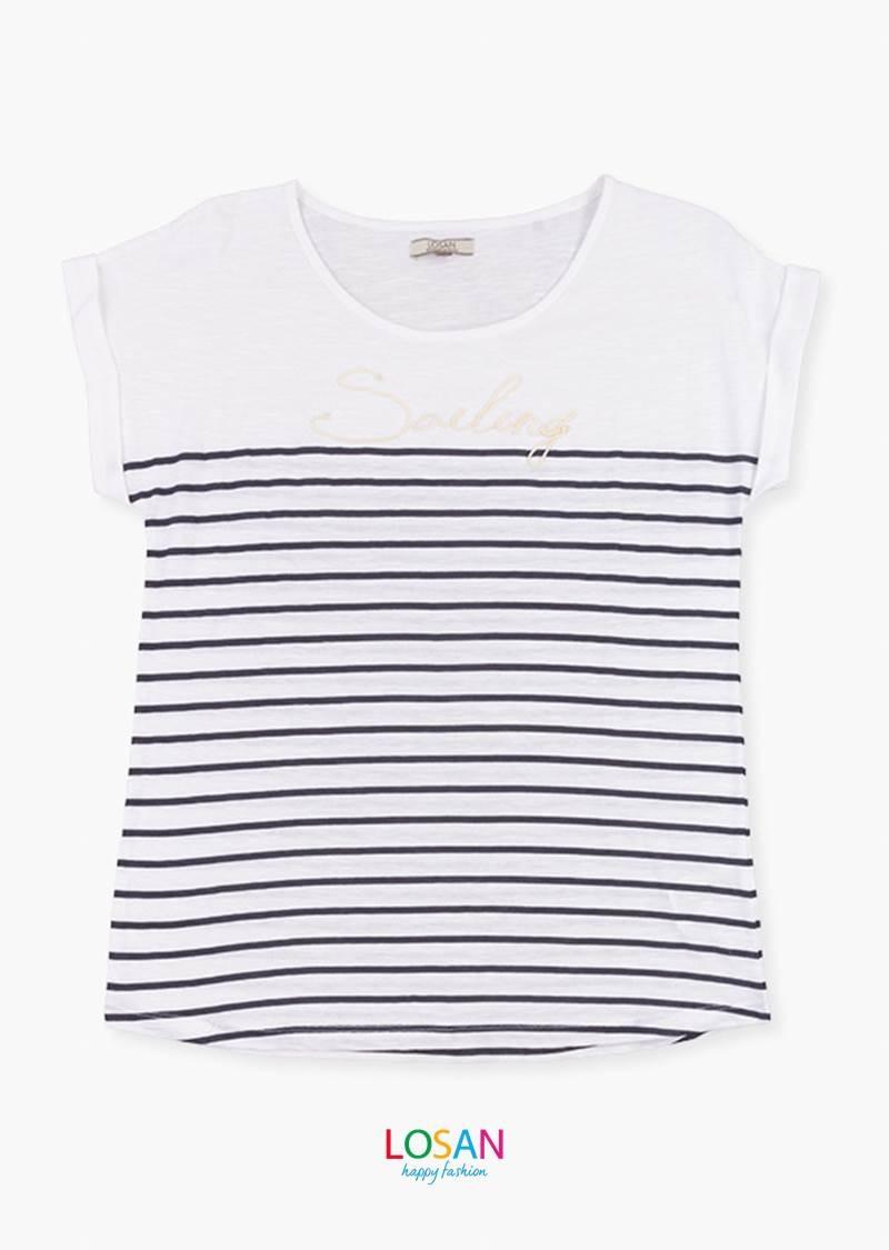 Camiseta Rayas Marineras Losan