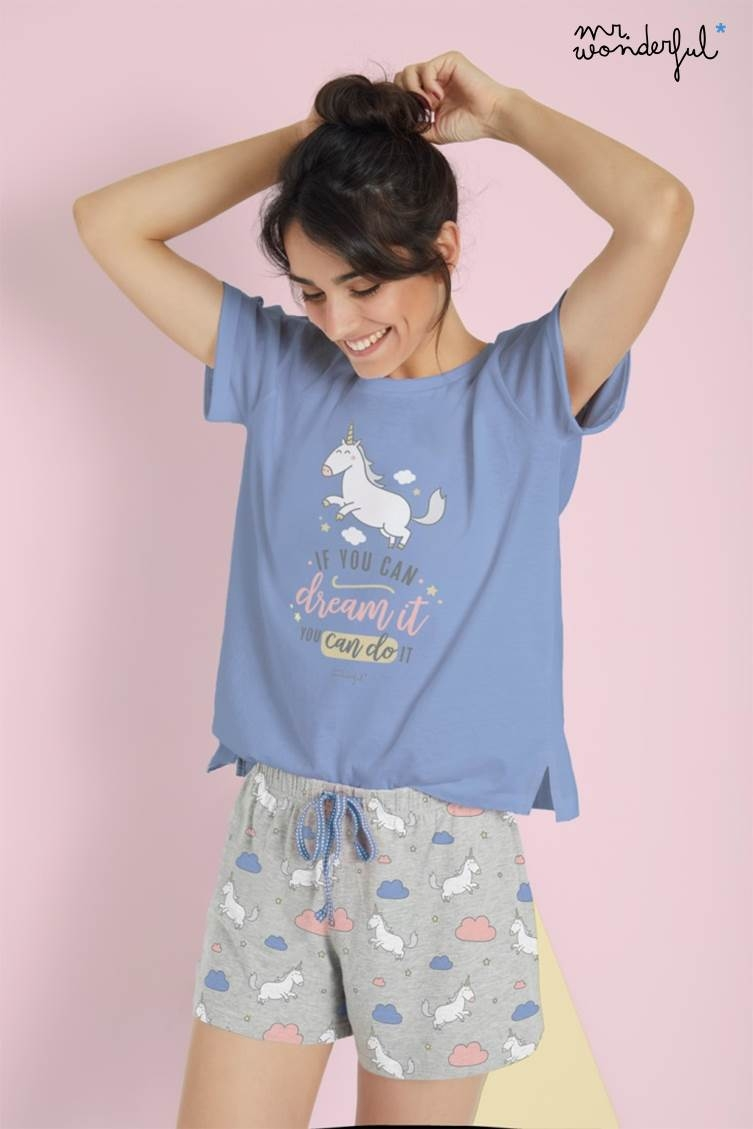 Pijama Corto Unicornio Mr.Wonderful