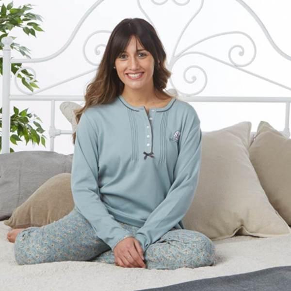 Pijama Floral Largo Cue