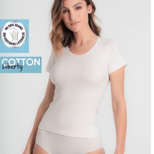 Camiseta Manga Corta Cotton Liberty Playtex