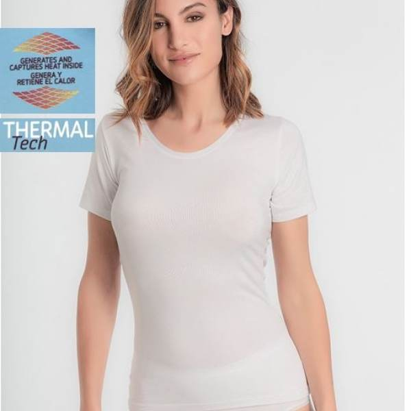 Camiseta Manga Corta Thermal Tech Playtex