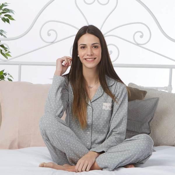 Pijama Puntitos Abierto Cue