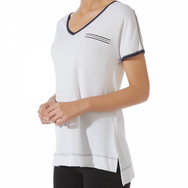 Camiseta Manga Corta Loo Navy Janira