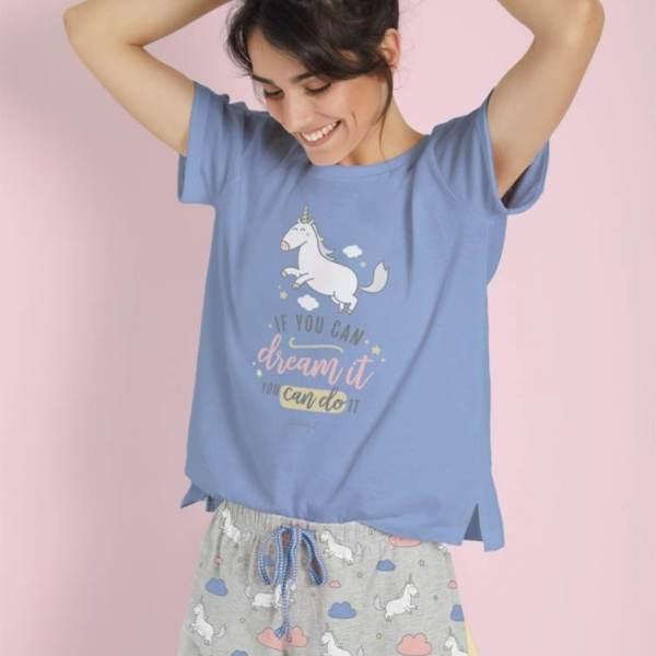 Pijama Corto Unicornio Mr.Wonderful